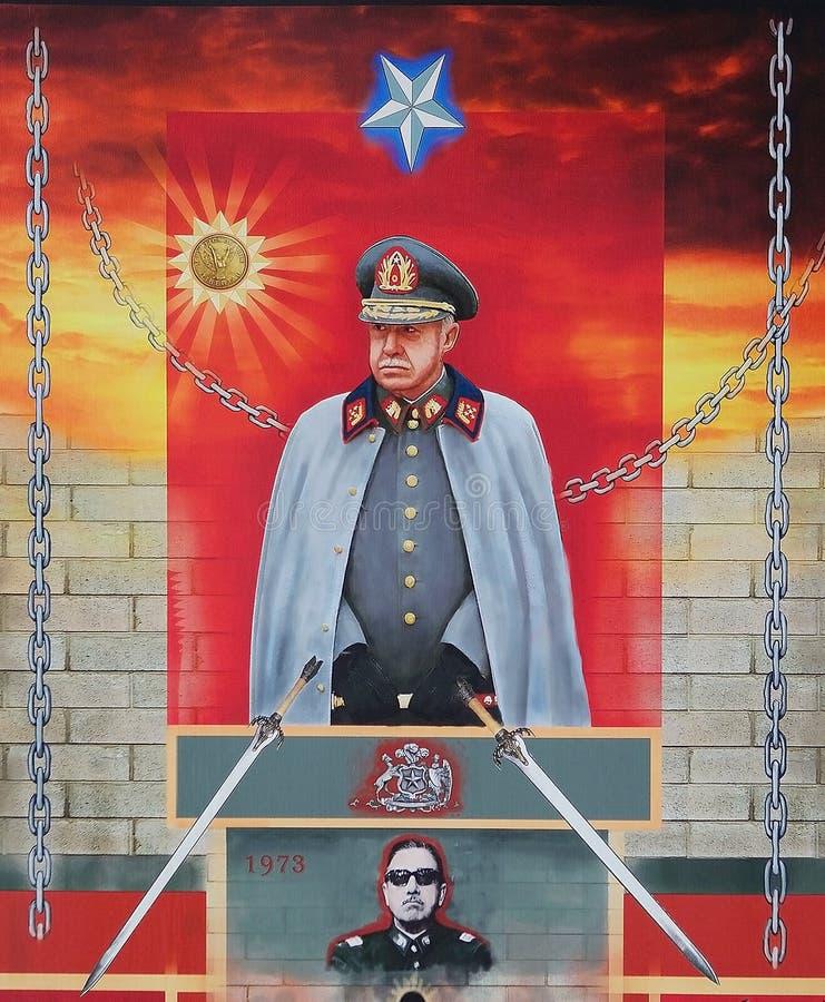 Плакат Augusto Pinochet, Чили стоковые изображения rf
