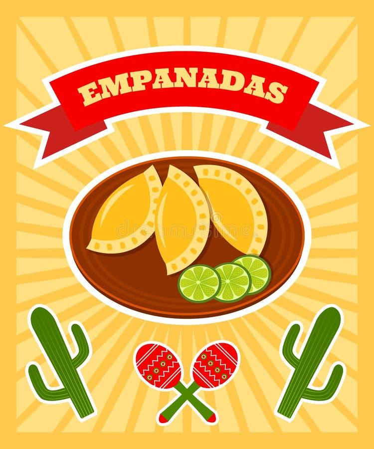 Плакат Empanadas бесплатная иллюстрация