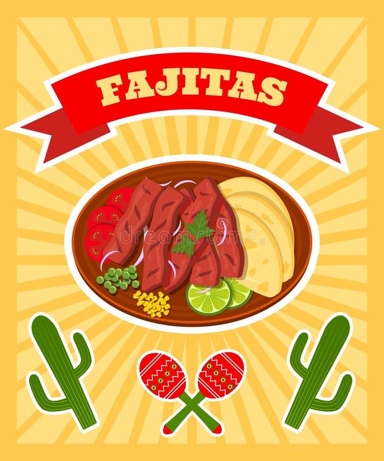 Плакат Fajitas бесплатная иллюстрация