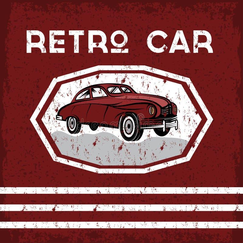 плакат grunge автомобиля старый винтажный иллюстрация вектора