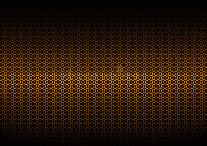 плакировка металла померанцовая стоковое изображение