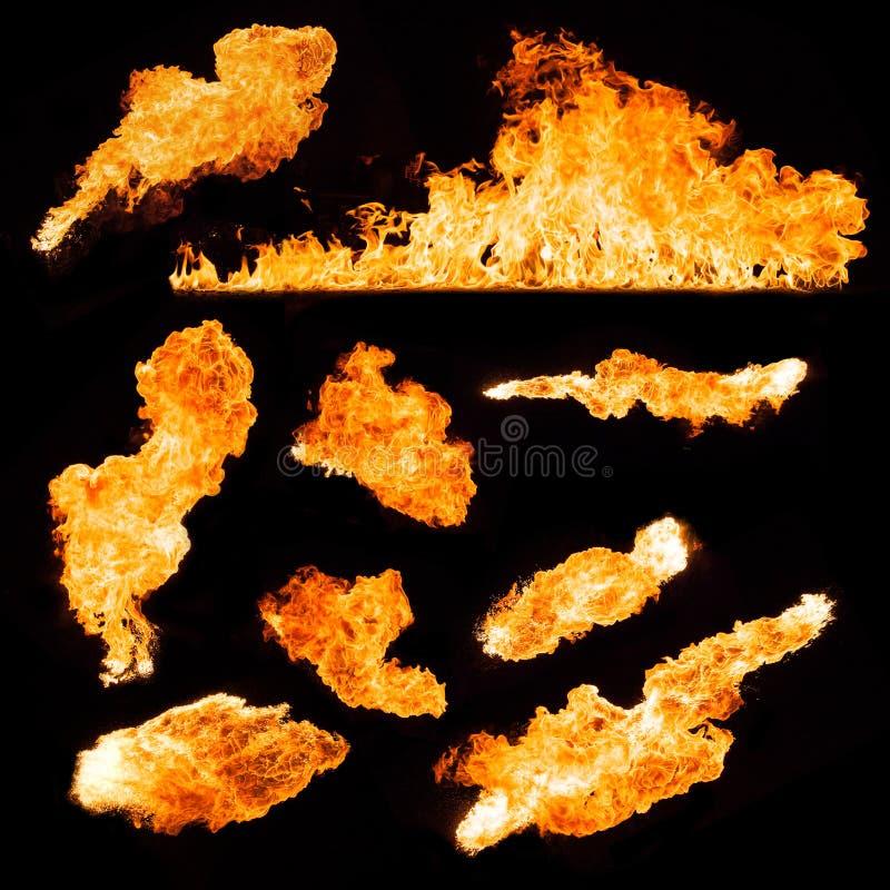 Пламена огня стоковое изображение