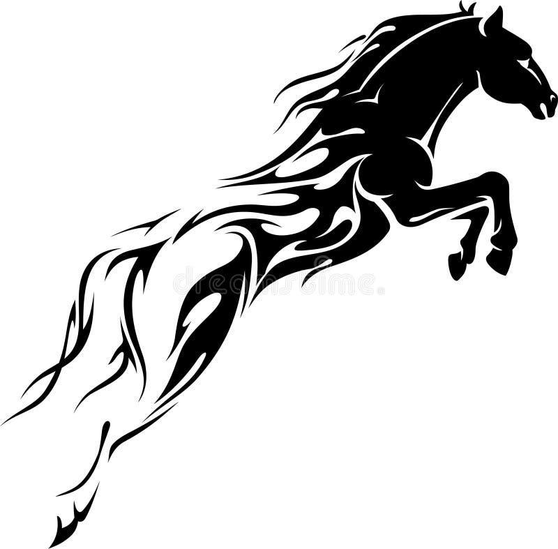 Пламенеющая мощность в лошадиных силах иллюстрация штока