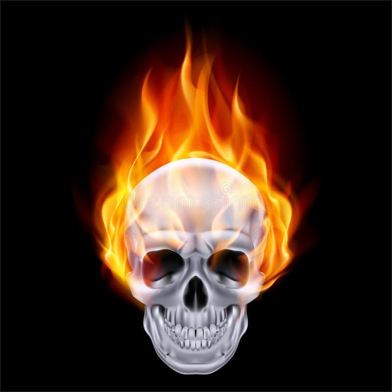 Пламенистый череп. бесплатная иллюстрация