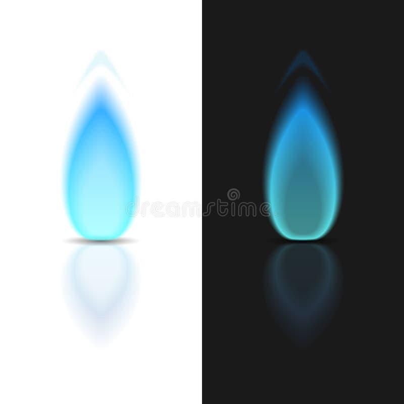 Пламя газа иллюстрация штока