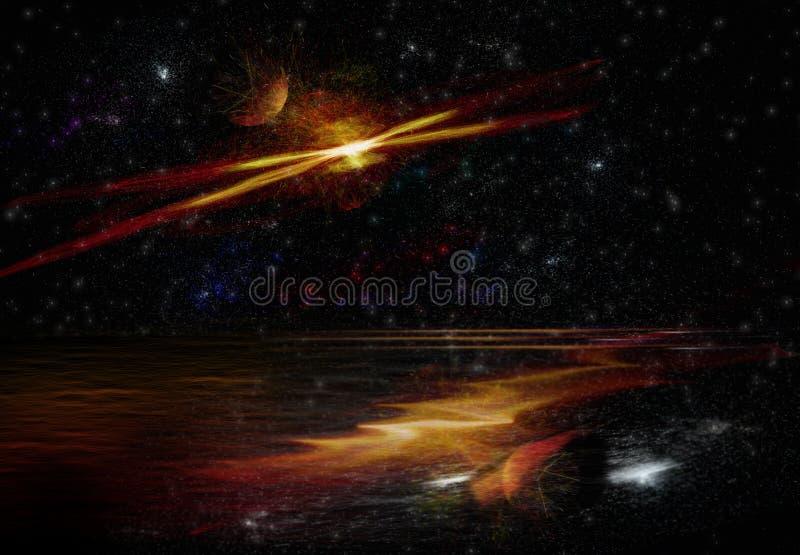 Планетарий галактики фантазии иллюстрация вектора