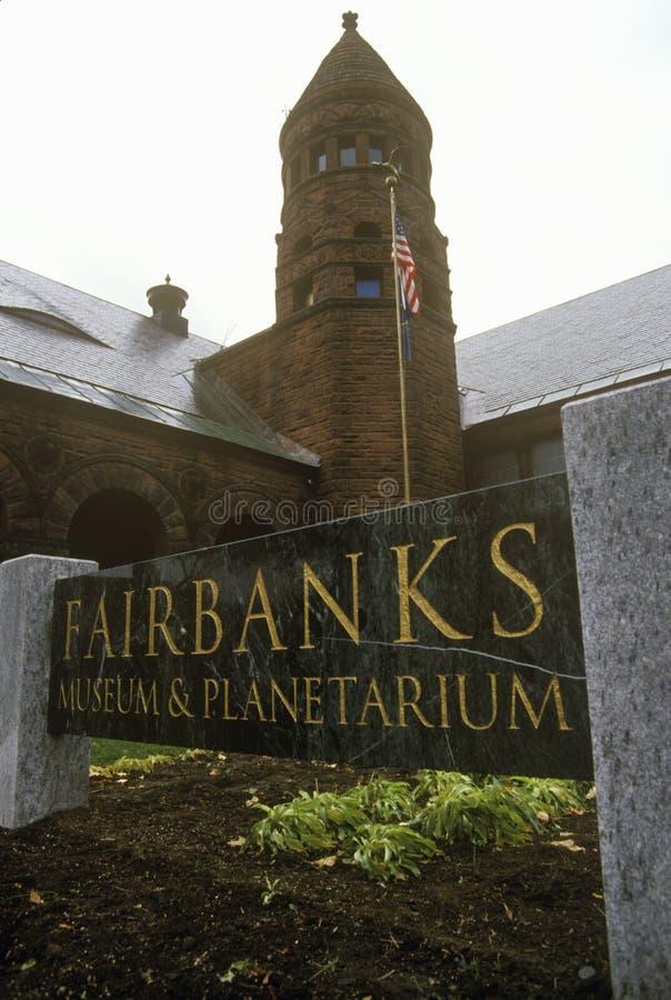 Планетарий и музей Фэрбенкса в St Johnsbury, VT стоковое изображение