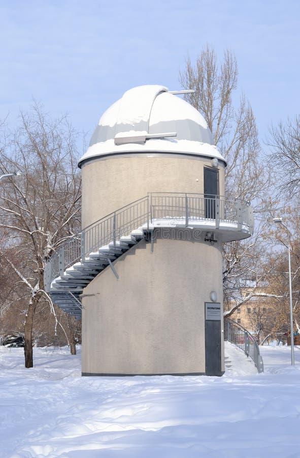 Планетарий обсерватории Новокузнецка Зона Kemerovo, Россия стоковое фото rf