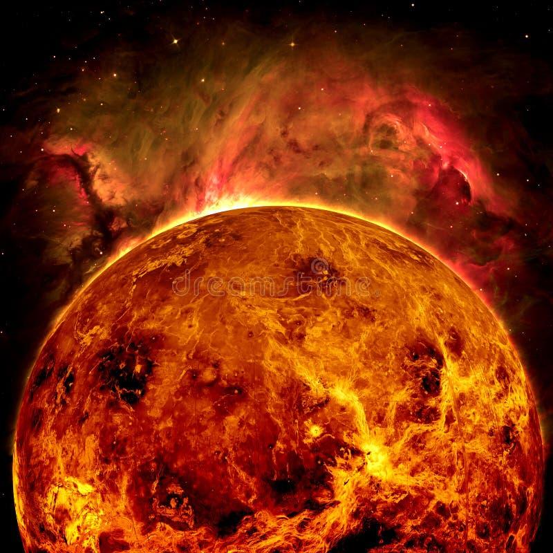 Планета Венера - элементы этого изображения поставленные NASA иллюстрация штока
