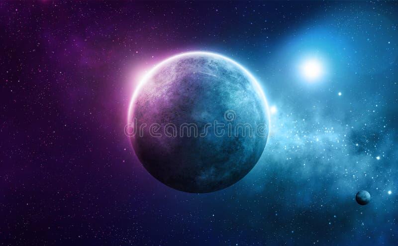 Планета глубокого космоса иллюстрация вектора
