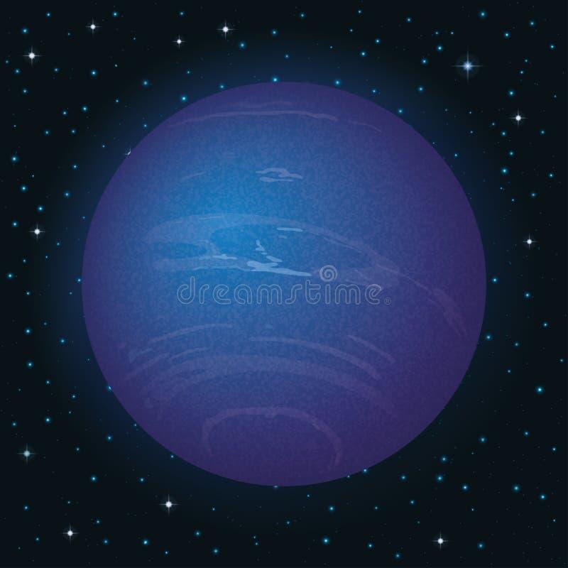 Планета Нептун в космосе иллюстрация вектора