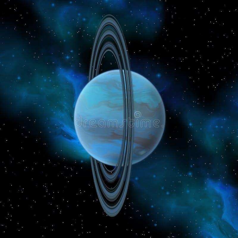 Планета Урана иллюстрация вектора