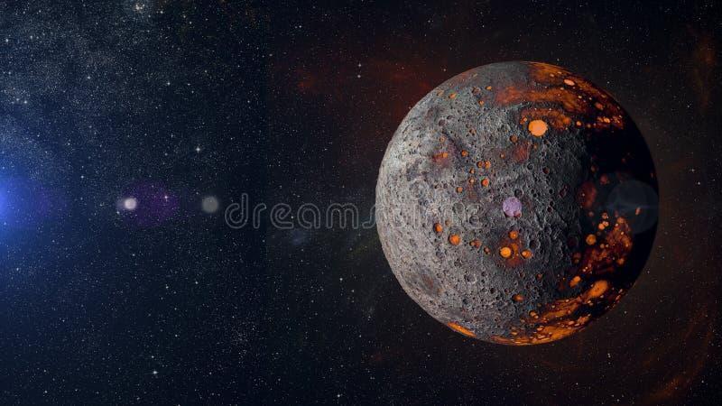 Планета чужеземца горячая на переводе предпосылки 3d межзвёздного облака бесплатная иллюстрация