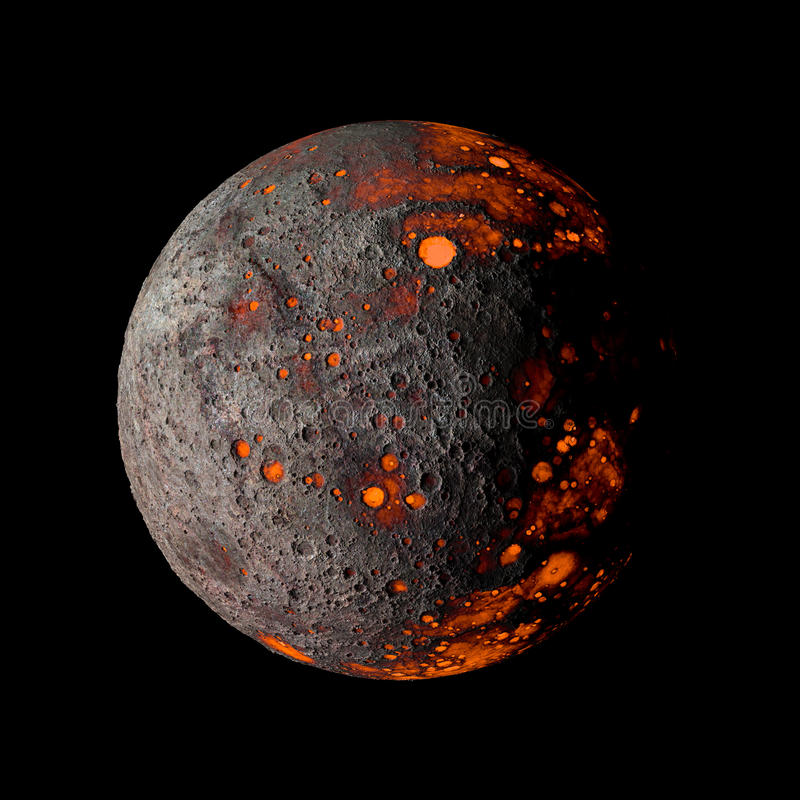 Планета чужеземца горячая на черном переводе предпосылки 3d бесплатная иллюстрация