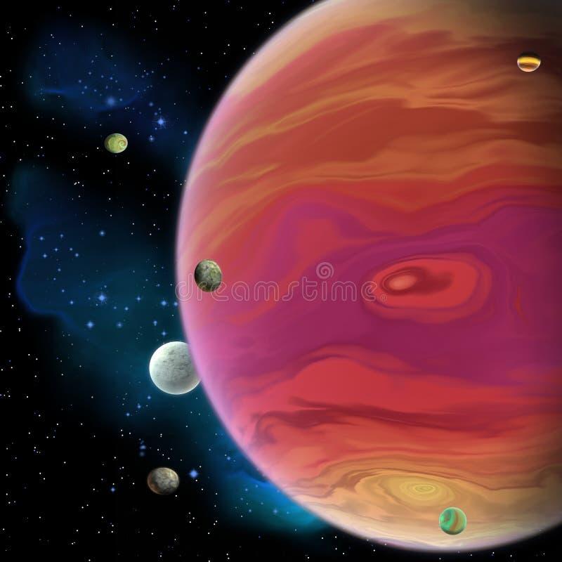 Планета Юпитера иллюстрация штока