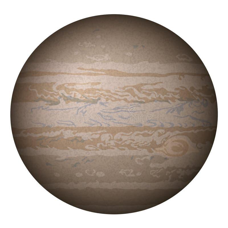 Планета Юпитер, изолированный на белизне бесплатная иллюстрация