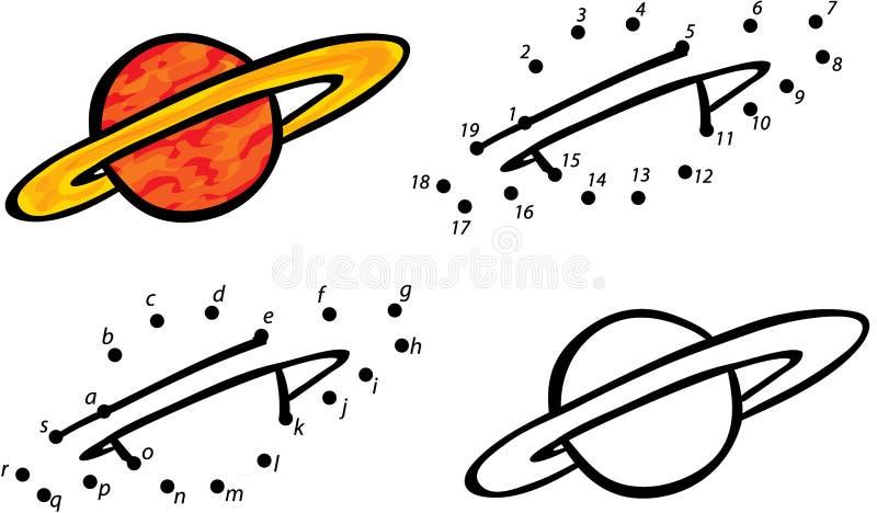 Планета Юпитер шаржа также вектор иллюстрации притяжки corel Красить и точка к иллюстрация вектора