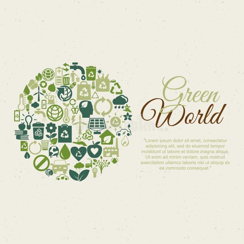 Download Планета Eco иллюстрация вектора. иллюстрации насчитывающей различно - 41661057