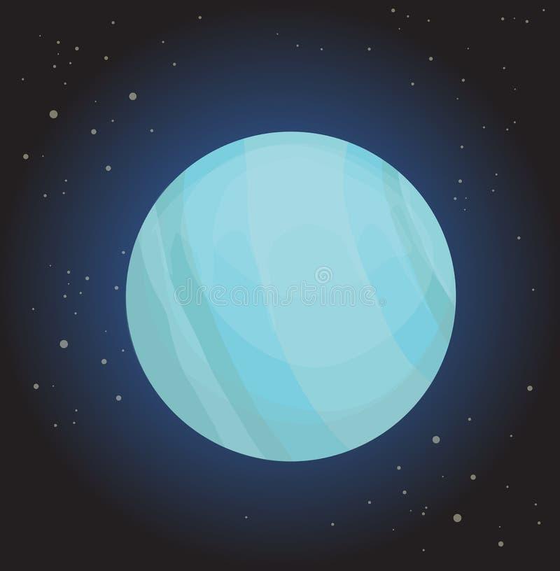 планета uranus иллюстрация вектора