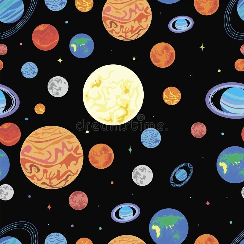 Планеты картины солнечной системы иллюстрация вектора