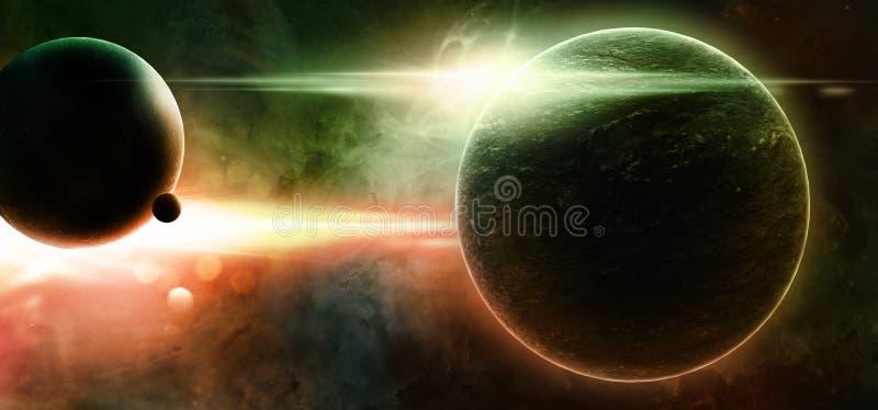 Планеты на звёздной предпосылке стоковая фотография
