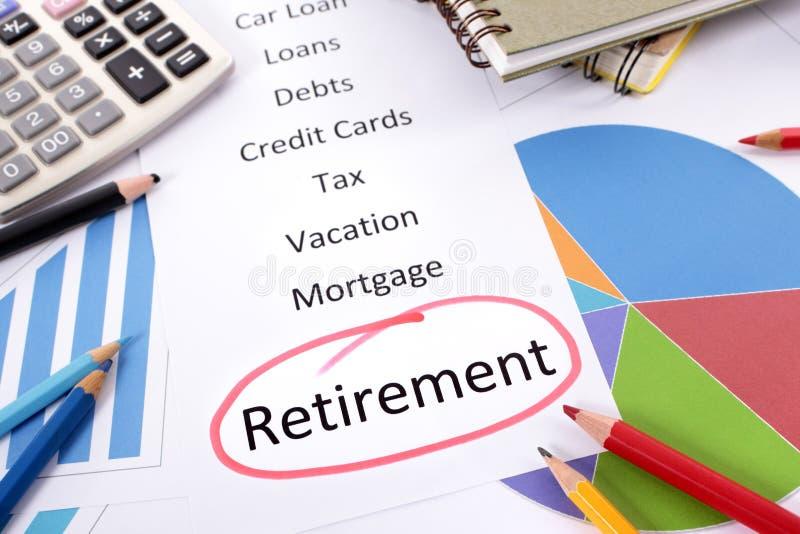 Планирование выхода на пенсию стоковое изображение