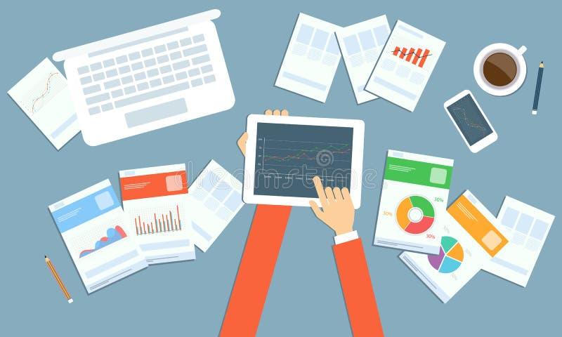 Планирование капиталовложений предприятий вектора на технологии прибора бесплатная иллюстрация