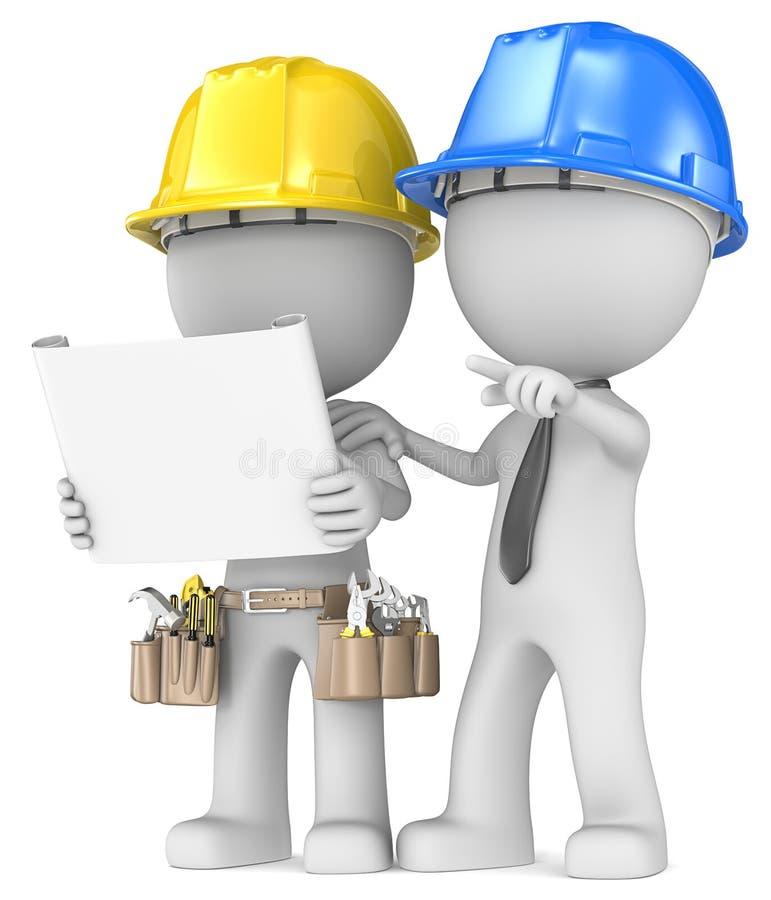 Планирование проекта строительства. иллюстрация вектора