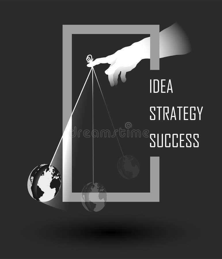 Планированиe бизнеса, маркетинг, концепция консультаций по бизнесу иллюстрация вектора