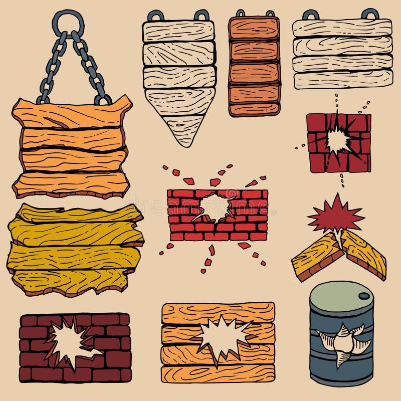 Планка Grunge деревянная бесплатная иллюстрация