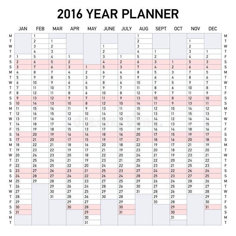плановик 2016 год бесплатная иллюстрация