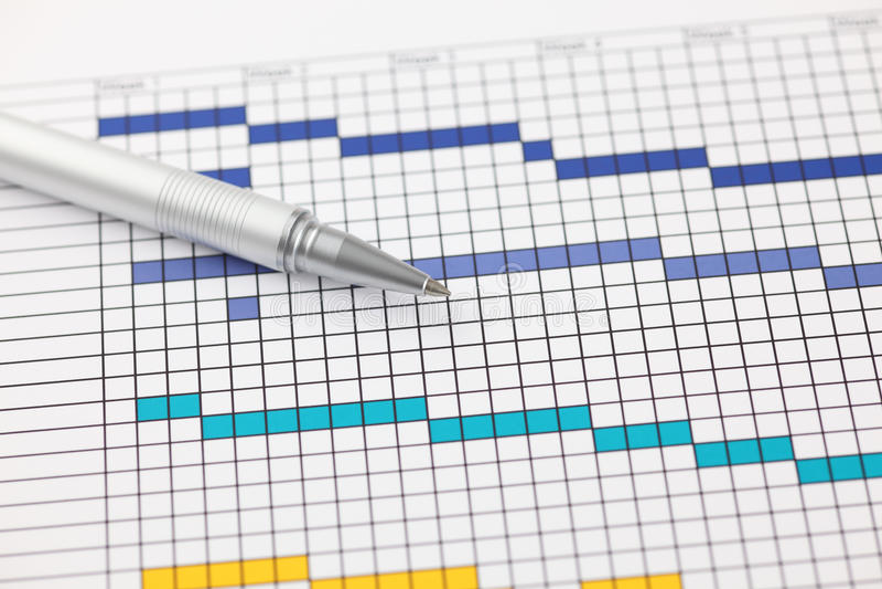 Планово-контрольный график стоковая фотография rf