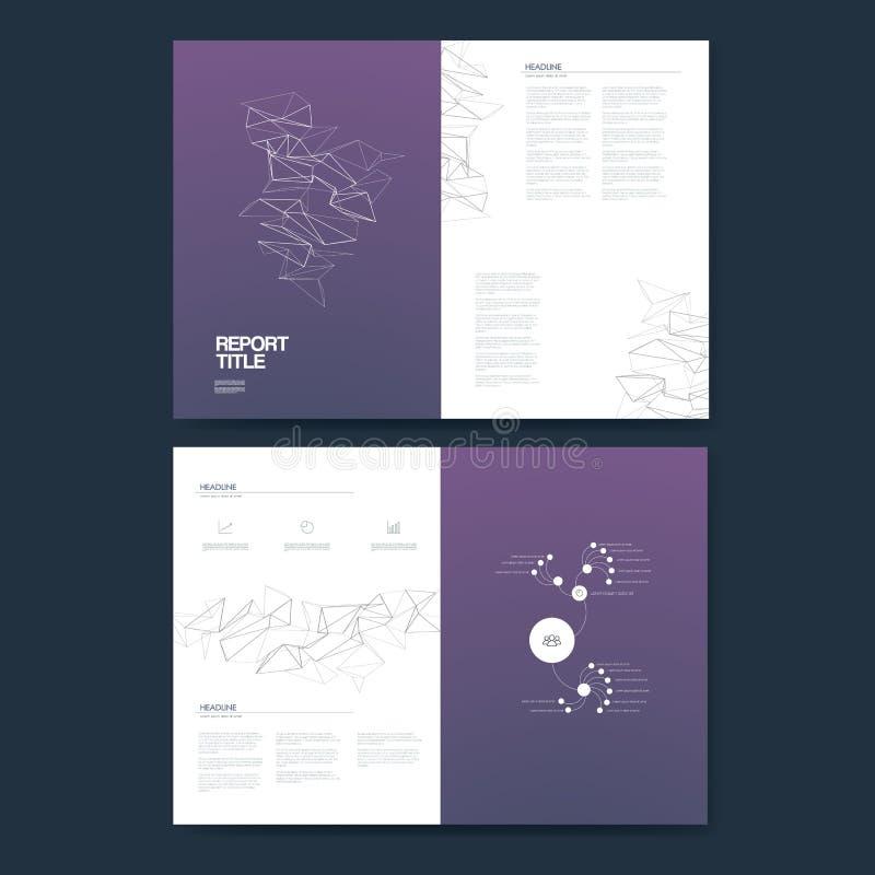 План анализа данных infographics шаблона годового отчета дела для представления Значки и диаграммы финансов с пирогом иллюстрация вектора