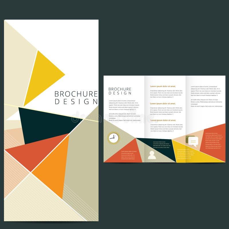 План брошюры вектора иллюстрация вектора