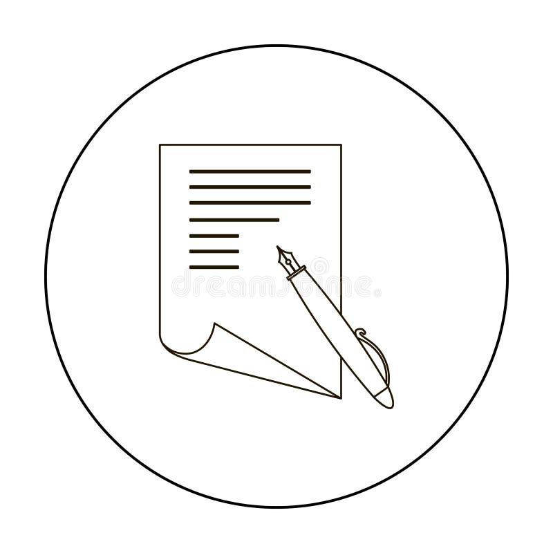 План бумажных и ручки значка Одиночный значок от большой школы, план образования университета иллюстрация штока