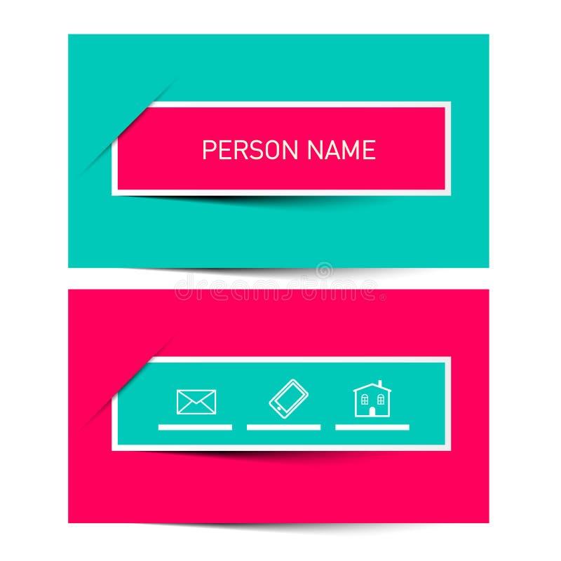 План вектора визитной карточки ретро простой иллюстрация штока