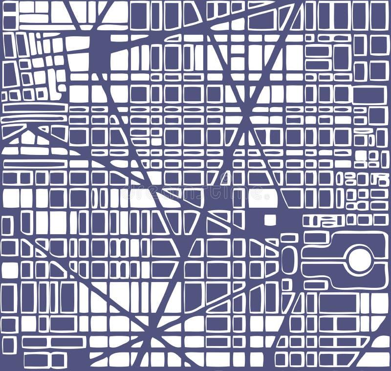 План города карты иллюстрация штока