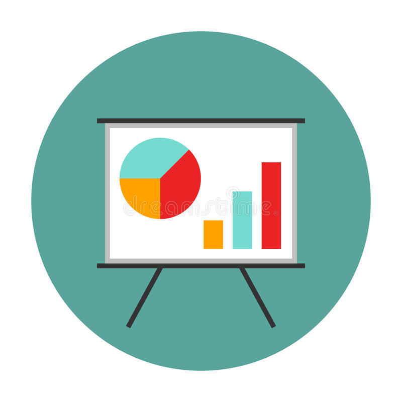 План-график на whiteboard иллюстрация вектора