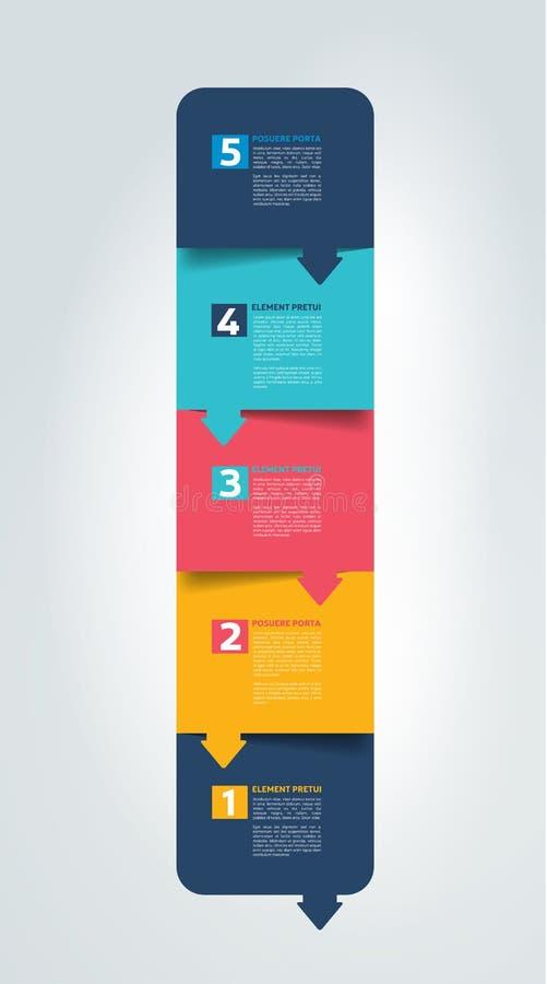 План-график, плата, знамя Дизайн вектора Minimalistic infographic иллюстрация вектора