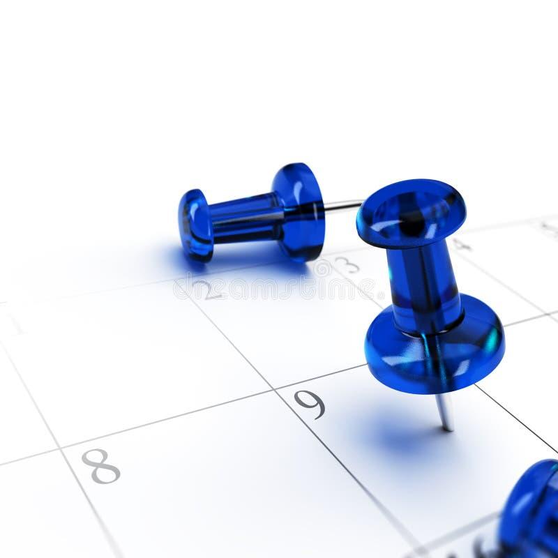 План-график, устанавливая дату иллюстрация вектора