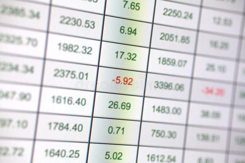 План-график финансирования стоковое изображение