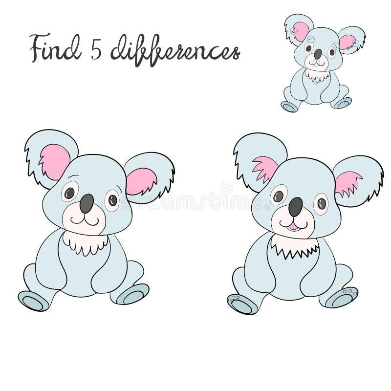 План детей разницах в находки для игры иллюстрация штока