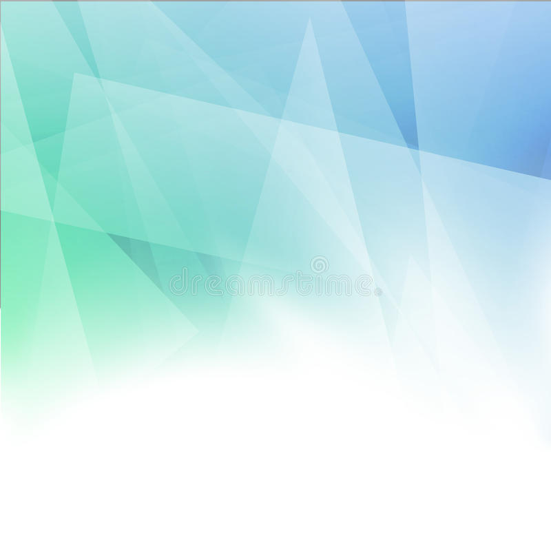 План зеленого цвета Minimalistic абстрактный геометрический голубой иллюстрация вектора