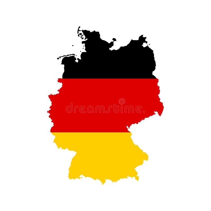 План и флаг Германии иллюстрация штока