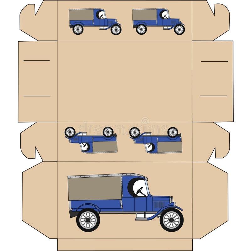 План коробки для подарка стоковые фото