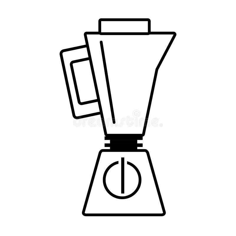 план кухонного прибора blender иллюстрация вектора