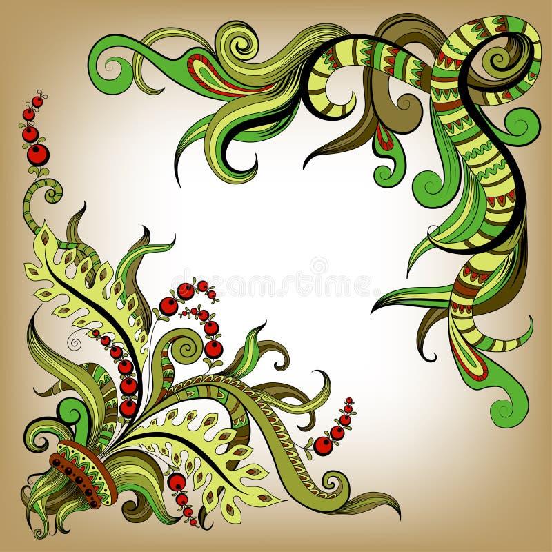 План цвета схематичных doodles декоративный иллюстрация штока