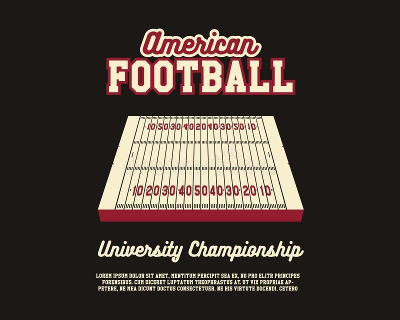 План чемпионата университета американского футбола иллюстрация вектора