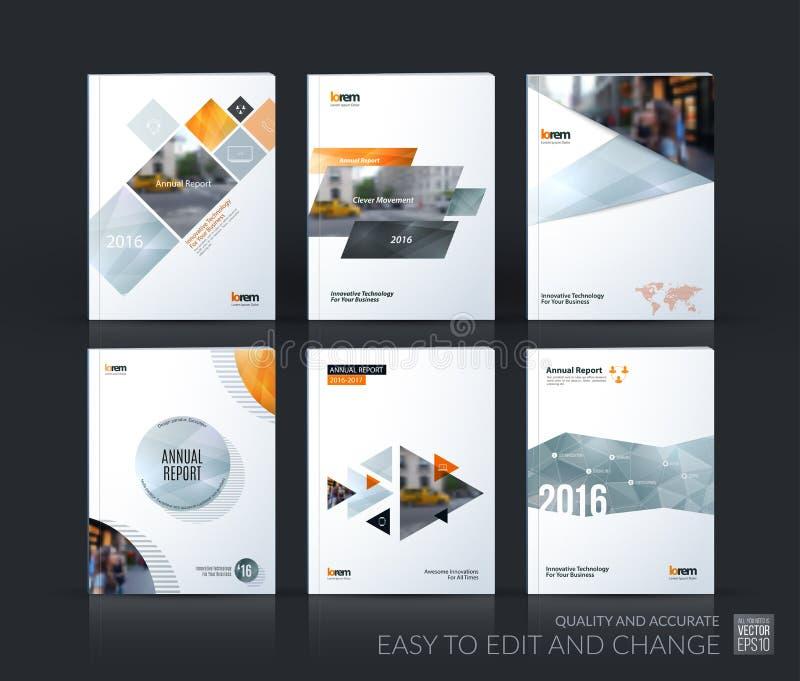 План шаблона брошюры, годовой отчет дизайна крышки, кассета, стоковые изображения rf
