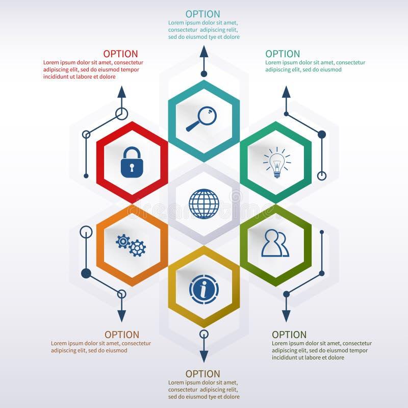 План шаблона отчете о Infographics иллюстрация штока